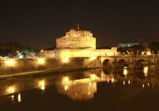Castel Sant'Angelo at night. Rome. Stock Images