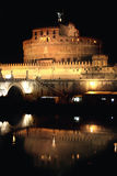 Castel Sant' Angelo night in Rome, Italy Royalty Free Stock Image