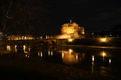 Castel Sant Angelo Santangelo Rome night Stock Photo