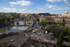 Castel Sant'Angelo overlooking the scenery Stock Image