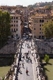 Castel Sant'Angelo overlooking the scenery Stock Photography