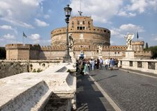 Castel Sant ` Angelo in Parco Adriano, Rome, Italië Stock Foto
