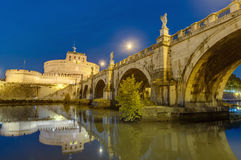 Castel Sant Angelo in Parco Adriano, Rome, Italy. The Mausoleum of Hadrian, usually known as the Castle of the Holy Angel (Castel Sant Angelo), a towering Stock Photo
