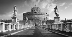 Castel Sant`Angelo from Ponte Sant`Angelo stock images