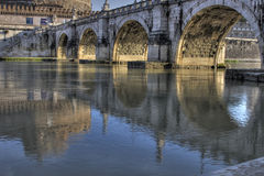 Castel Sant' Angelo reflected in river Stock Photography