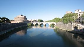 Castel Sant-` Angelo, Rom, Italien stock video footage