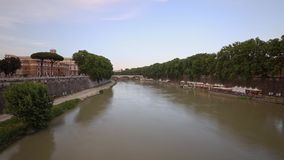 Castel Sant-` Angelo, Rom, Italien stock footage
