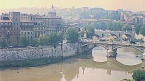 Castel Sant-` Angelo Rom stock video