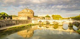 Castel Sant 'Angelo a Roma Fotografie Stock Libere da Diritti