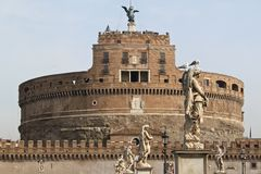 Castel Sant'Angelo in Rome. The famous Castel Sant'Angelo in Rome, Italy royalty free stock images