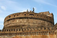 Castel Sant' Angelo in Rome Royalty Free Stock Image
