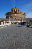 Castel Sant'Angelo in Rome Stock Afbeelding