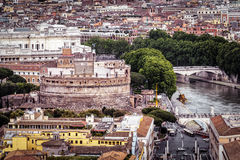 Castel Sant`Angelo in Rome cityscape Stock Photo
