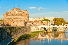 Castel Sant'angelo, Rome, Italië. Stock Foto's