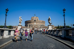 Castel Sant'angelo, Rome, Italië Stock Afbeeldingen
