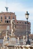 Castel Sant ` Angelo in Rome, Italië Het oriëntatiepunt van Rome stock afbeeldingen