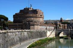 Castel Sant ` Angelo Rome Italië, het vestingsmuseum en de rivier Tiber Royalty-vrije Stock Afbeelding