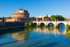 Castel Sant ` Angelo, Rome, Italien arkivfoton