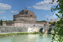 Castel Sant Angelo Rome Italy Royaltyfri Fotografi