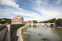 Castel Sant Angelo in Rome Stock Images