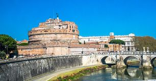 Castel Sant'angelo, Rome, Italy stock photography