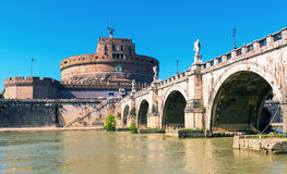 Castel Sant`Angelo in Rome, Italy Royalty Free Stock Images