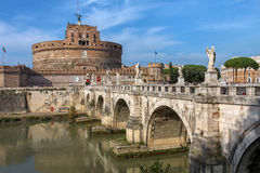 Castel Sant'Angelo, Rome, Italy. Castel Sant'Angelo (The Castle of the Holy Angel or Mausoleum of Hadrian) in Rome, Italy Stock Photos