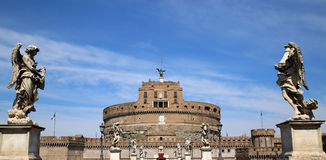 Castel Sant' Angelo in Rome, Italy Stock Images