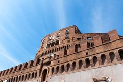 Castel Sant Angelo in Rome, Italy. The Mausoleum of Hadrian, known as Castel Sant Angelo Stock Photos