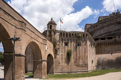 The Castel Sant`Angelo, Rome, Italy. The Mausoleum of Hadrian, usually known as the Castel Sant`Angelo, Rome, Italy Stock Images