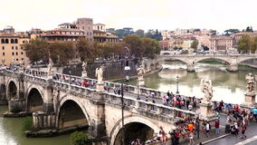 Castel Sant'Angelo in Rome. Italy stock video footage