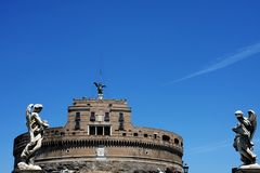 Castel Sant'Angelo in Rome Royalty Free Stock Image