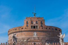 Castel Sant'Angelo, Rome. View on famous Saint Angel castle in Rome, Italy Stock Image