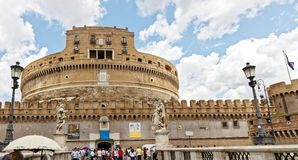 Castel Sant ` Angelo, Rzym Obrazy Royalty Free