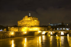 Castel Sant'Angelo and the Sant'Angelo bridge Stock Photo
