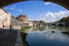 Castel Sant ' Angelo (Santangelo) Rom - Italien Lizenzfreies Stockfoto