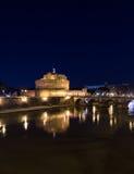 Castel Sant ' Angelo (Schloss des heiliger Engels) und Ponte Sant'Ang Stockfotografie