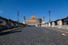 Castel Sant ' Angelo (Schloss des heiliger Engels) vom Ponte San Stockbild