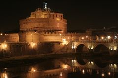 Castel sant'Angelo (St. Grodowy Anioł) zdjęcia stock