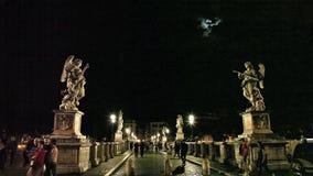 Castel Sant Angelo-Statuen stock video footage