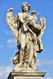 Castel Sant ` Angelo, staty av Angelo med klänningen och tärningen Royaltyfria Foton