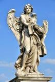 Castel Sant ` Angelo, staty av Angelo med klänningen och tärningen Royaltyfri Fotografi