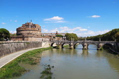 Castel Sant Angelo in a summer day in Rome, Italy Stock Image