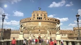 Castel Sant ' Angelo in Sunny Day archivi video