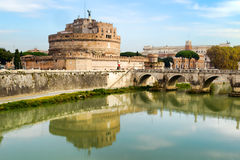 Castel Sant'Angelo and Tiber Royalty Free Stock Photo