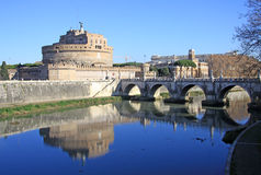 Castel Sant Angelo and Tiber River. Rome, Italy Royalty Free Stock Image