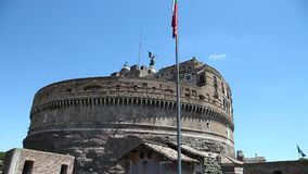 Castel Sant ' Angelo Tower stock video
