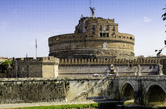 The Castel Sant'Angelo mausoleum of Hadrian in the heart of Rome Stock Photography