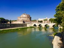 Castel Sant'Angelo (Mausoleum of Hadrian), Rome. Royalty Free Stock Photos