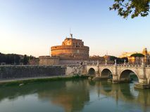 Castel Sant y x27; Ángel y x28; Mausoleo de Hadrian& x29; , Roma Imagen de archivo libre de regalías
